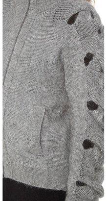 Maison Martin Margiela Braided Sleeve Cardigan