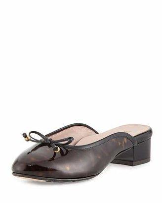 Taryn Rose Faigel Low-Heel Patent Mule, Tortoise $140 thestylecure.com
