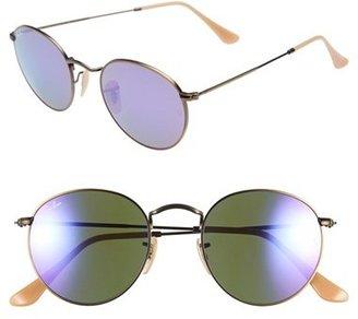 Women's Ray-Ban 'Icon' 50Mm Sunglasses - Bronze/ Purple Mirror $175 thestylecure.com