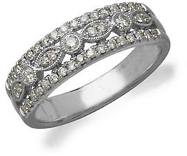 Lord & Taylor 14Kt. White Gold and Diamond Ring