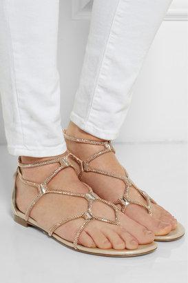Rene Caovilla Swarovski crystal-embellished leather sandals