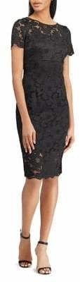Chaps Slim Fit Lace Shift Dress