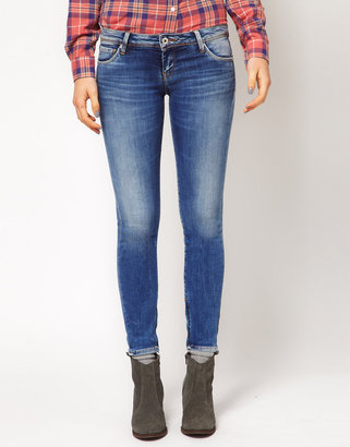 Pepe Jeans Cher Skinny Jeans With Ankle Zip