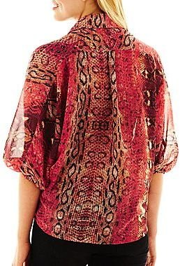 JCPenney HollyWood Button-Front Shirt