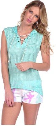 Vintage Havana Sleeveless Tie Up Knit Top