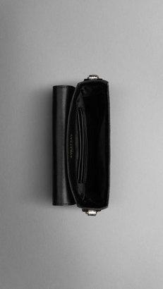 Burberry Bow Detail Python Crossbody Bag