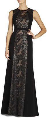 Red Carpet Linden Leaf Embroidered Gown