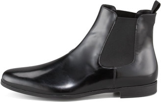 Prada Spazzolato Ankle Boot with Goring