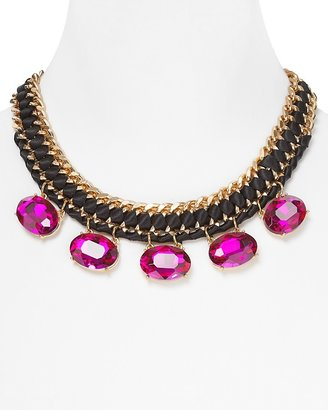 """Cara Accessories Embellished Ribbon Necklace, 17"""""""