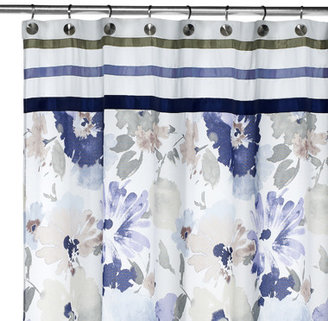 """Croscill Watercolor Floral 70"""" x 72"""" Fabric Shower Curtain"""
