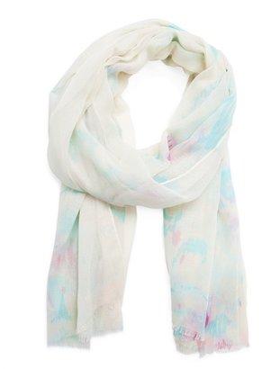 MANGO Watercolour print foulard