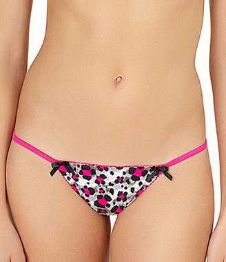 Betsey Johnson Stretch Knit Thong