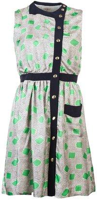 Lauren Moffatt Sleeveless garden print dress