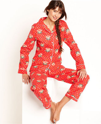 Paul Frank Age Group Pajamas, Heart Print Top and Pajama Pants Set