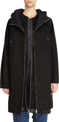Marni Fishtail Anorak with Detachable Shearling Vest