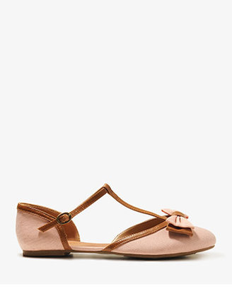 Forever 21 T-Strap Bow Flats