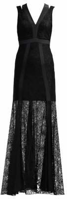 Patrizia Pepe Lace Panel Gown