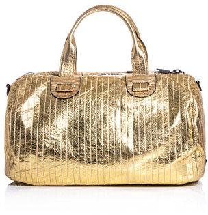 Meredith Wendell Metallic leather duffle bag