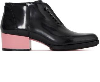 3.1 Phillip Lim Newton Boot In Black With Peony Heel
