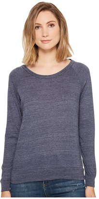 Alternative - Eco-Heather Slouchy Pullover Women's Long Sleeve Pullover $44 thestylecure.com