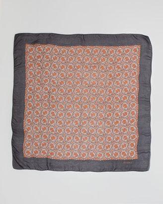 Gucci Calimon Printed Square Silk Scarf, Multi