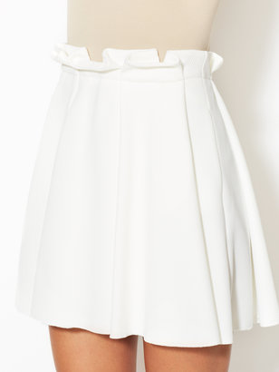 Torn By Ronny Kobo Odelia Pleated Mini Skirt