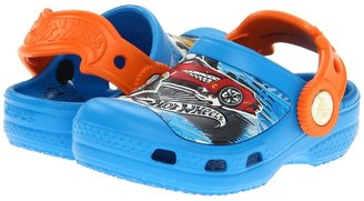 Crocs Hot Wheels Let's Race Clog (Toddler/Little Kid) (Ocean/Orange) - Footwear