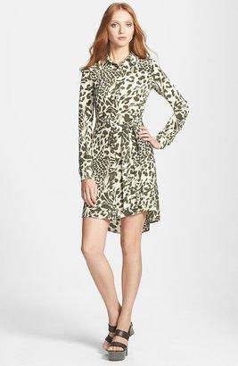 Diane von Furstenberg 'Prita' Belted Print Silk Shirtdress