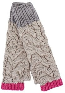 Kickle Beige Cable Mittens
