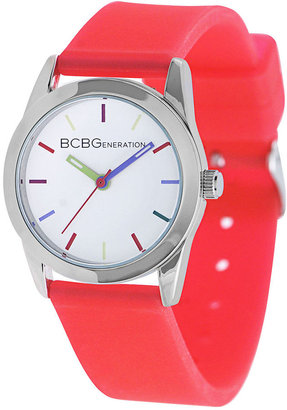 BCBGeneration Watch, Women's Red Silicone Strap 28mm GL4201