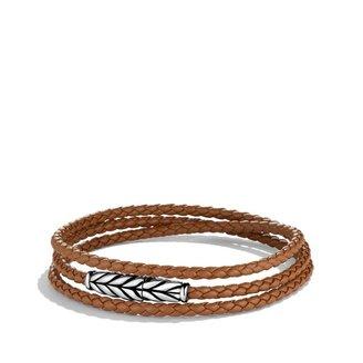David Yurman Chevron Triple-Wrap Bracelet in Camel