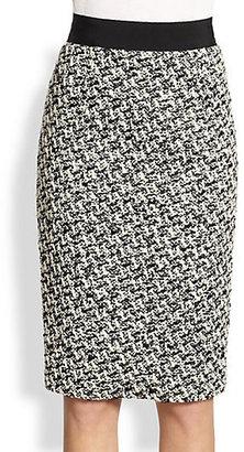 Giambattista Valli Tweed Pencil Skirt