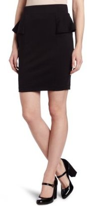 Amy Byer A. Byer Juniors Ponte Side Peplum Skirt