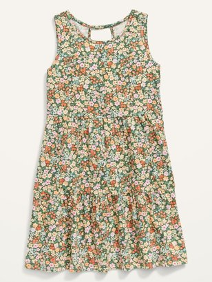 Old Navy Sleeveless Tiered Slub-Knit Dress for Girls