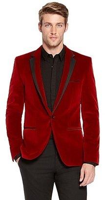 HUGO BOSS Askell Slim Fit, Velvet Sport Coat - Medium Red