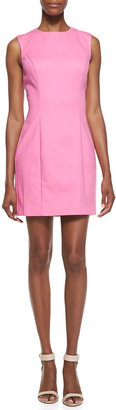 French Connection Spring Break Stretch Sateen Sheath Dress, Pink