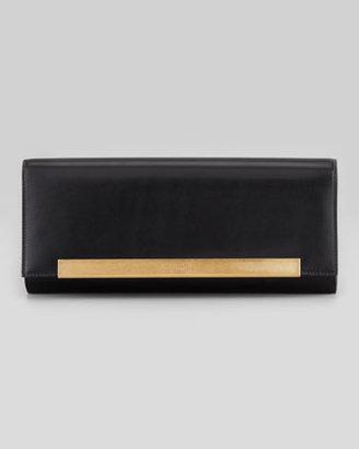 Saint Laurent Lutetia Flap Clutch Bag, Black