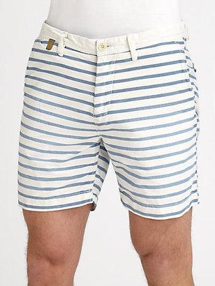 Scotch & Soda Nautical Striped Cotton Shorts