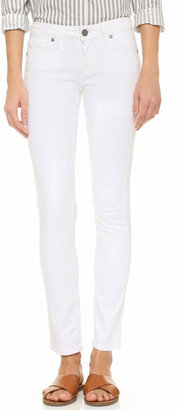 PAIGE Skyline Ankle Skinny Jeans $189 thestylecure.com