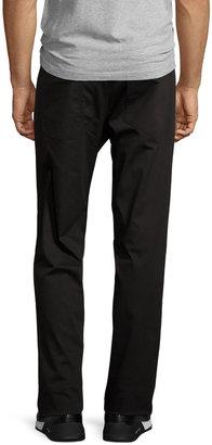 Theory Straight-Leg Twill Pants, Black