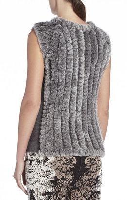 BCBGMAXAZRIA Neem Sleeveless Fur Pullover