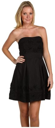 Badgley Mischka Embroidered Dress (Black) - Apparel