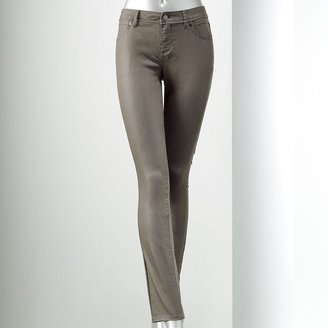 Vera Wang Simply vera coated skinny jeans