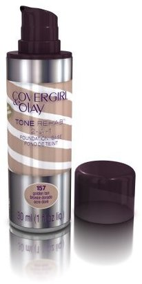 COVERGIRL and Olay Tonerehab 2-In-1 Foundation, Golden Tan 157, 1 Fluid Ounce $13.99 thestylecure.com