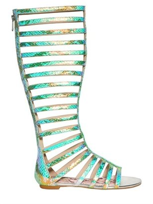Just Cavalli Greek Iridescent High Sandals