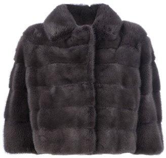 Mavina cropped mink fur coat