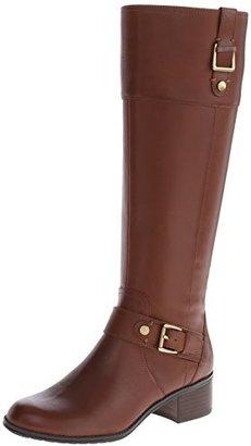 Bandolino Women's Cranne Wide Calf Leather Riding Boot $96.99 thestylecure.com
