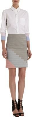 Boy By Band Of Outsiders Striped Seamed Skirt