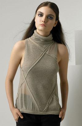 Donna Karan Funnel Neck Cashmere Pullover