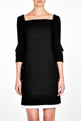 Marios Schwab Monochrome Tatiana Short Dress